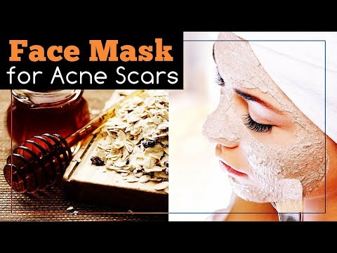 Face Mask for Acne Scars with Honey, Oatmeal and Lemon
