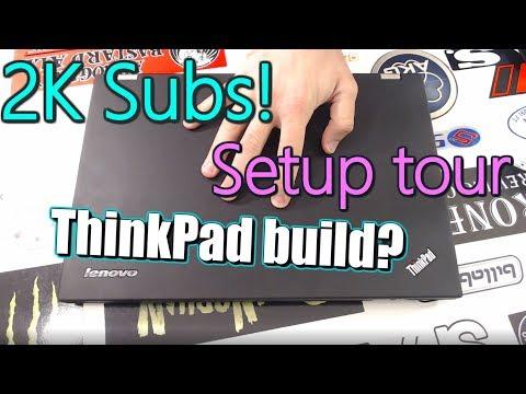 2K Subs Thank You! - Setup Tour and Future ThinkPad eGPU plans