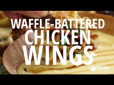 Waffle-Battered Chicken Wings