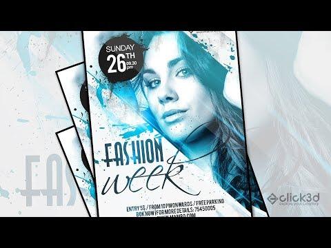 Fashion Week Flyer Design | Flyer Design In Photoshop | click3d