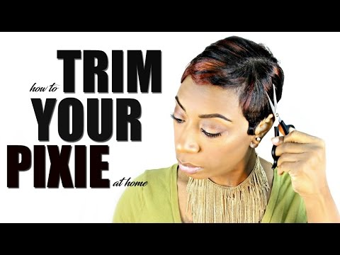 How To Trim A Pixie Cut At Home | Kaye Wright