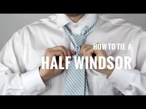 How to Tie a Necktie: Half Windsor Knot | The Distilled Man