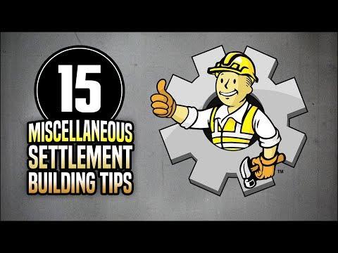 15 Miscellaneous Settlement Building Tips 👷 Fallout 4 No Mods Shop Class