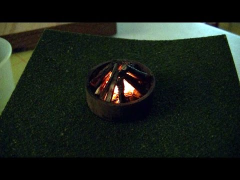 O Scale Campfire From a Flickering LED Tealight