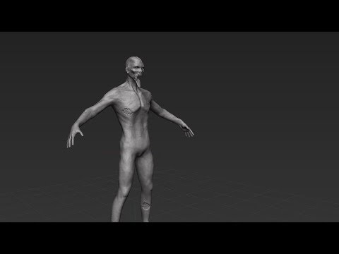 Sculpting a Zombie Zbrush tutorial part - 4