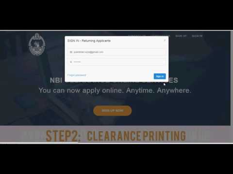 New NBI Online Application   - No E-mail Verification June 2016