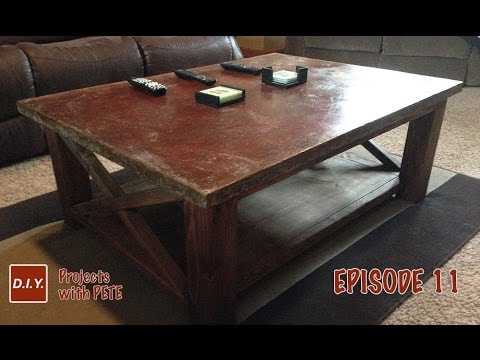 How to Make a Concrete Coffee Table and Acid Stain Concrete