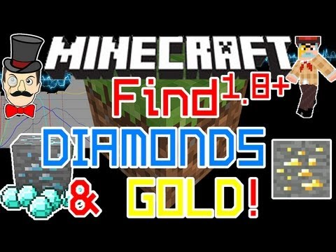 Minecraft How to FIND DIAMONDS & GOLD in 1.8 and 1.9 ! New Spawning Levels !