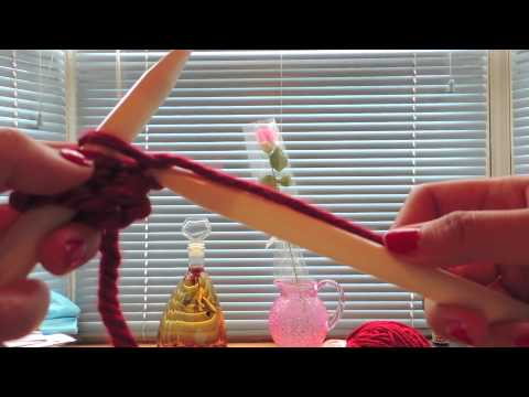 D.I.Y. Knitting :How to Knit A Scarf for Super Beginners