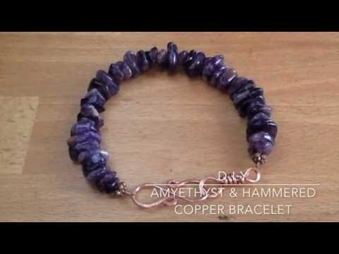 How to make a beaded Amethyst bracelet & S Clasp