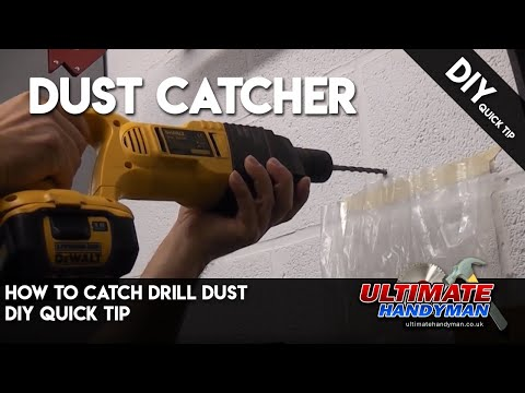 How to catch drill dust   DIY Quick tip