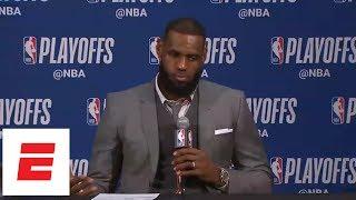 LeBron gets testy after game: