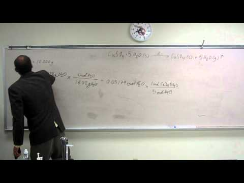 Gravimetric Analysis - Decomposition of a Hydrate  - Theoretical Yield 002