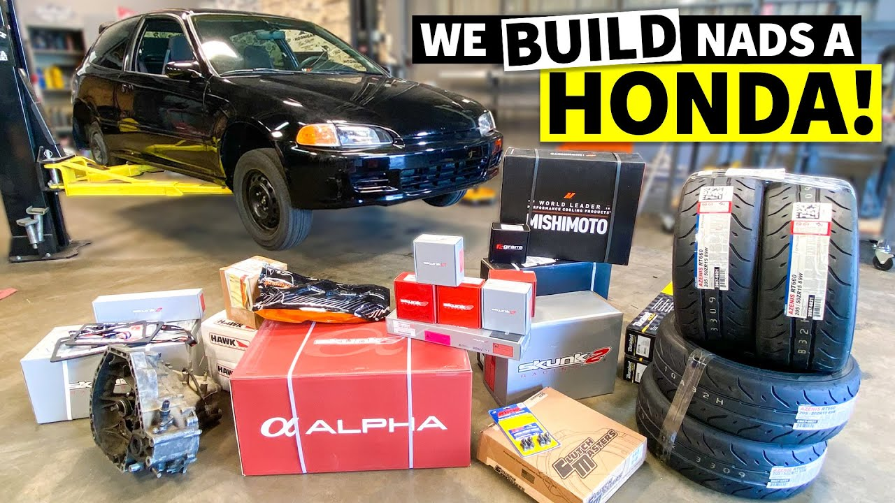 Swapping a B20 Engine in ONE Day for Nads' Surprise Honda Civic EG Build... SHHH! (Part 1 of 2)