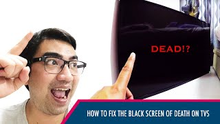 Toshiba LED TV (or any TV) Black Screen but with Audio ULTIMATE FIX (No need to remove Backcover)