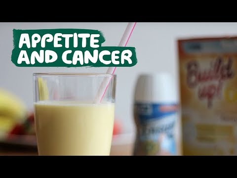 Coping with a poor appetite during treatment for cancer