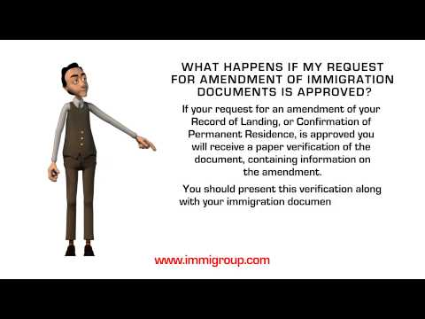 What happens if my request for amendment of immigration documents is approved?