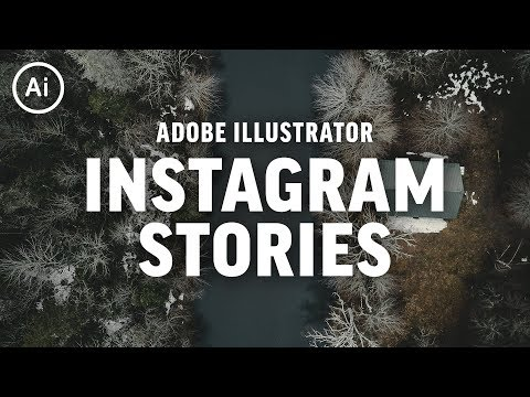 How to Make Creative Instagram Stories | Illustrator CC Tutorial