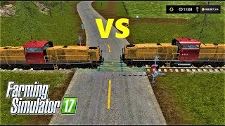 Farming Simulator 17 | TRAIN VS TRAIN IN GOLDCREST VALLEY