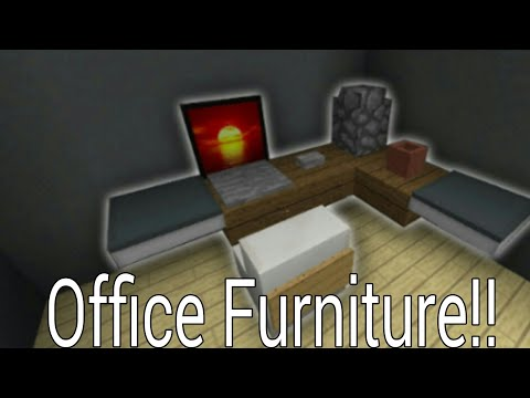 How to make Office furniture No Mods 2017 || Minecraft PE