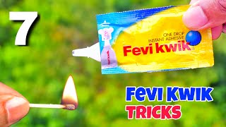 7 Crazy Fevi Kwik Experiments || Science Experiments With Fevi Kwik