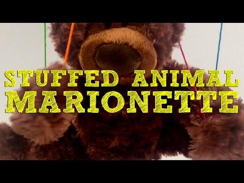 DIY Easy Stuffed Animal Marionette for Kids!