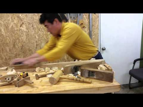 Making a square bar with Japanese hand plane