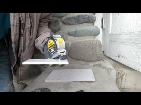 Cutting a hole in tile with a grinder