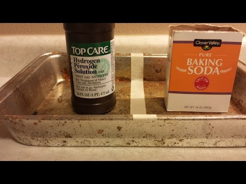How To Clean A Cookie Sheet Or Pan With Baking Soda And Peroxide.