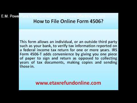 How to file online form 4506