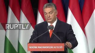 Hungary: Orban pushes anti-migration stance as election nears