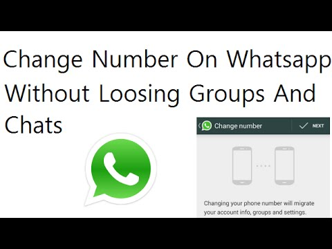 Change Mobile Number On Whatsapp Wihtout Loosing Old Chats And Group Messages
