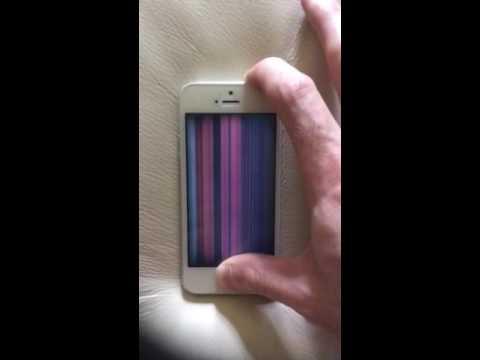 iPhone 5s screen problem vertical lines frozen