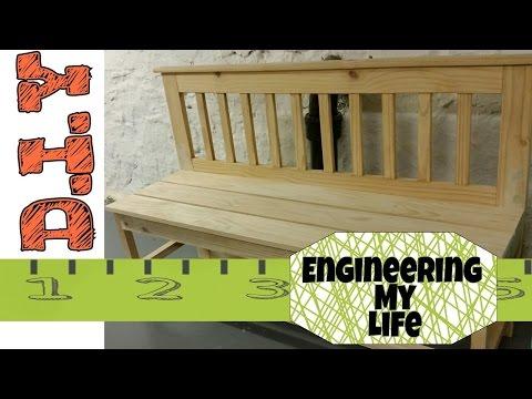 DIY Bench from Headboard