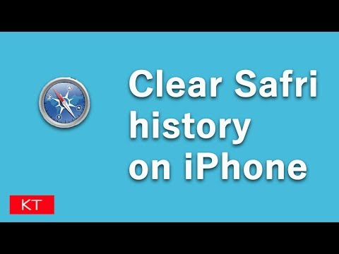 How to delete safari history on iPhone