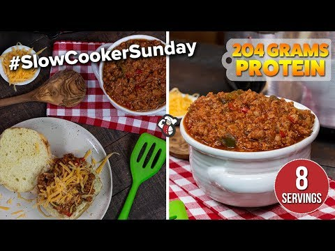 Protein PACKED Slow Cooker Sloppy Joes Recipe