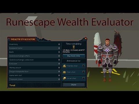 Runescape Wealth Evaluator