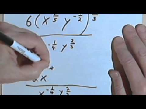 Simplifying Expressions Containing Rational Exponents, part 2 070-16b