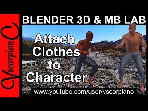 Blender 3d Tutorial - How to Attach Clothes to ManuelBastioni Character Method 2 by VscorpianC