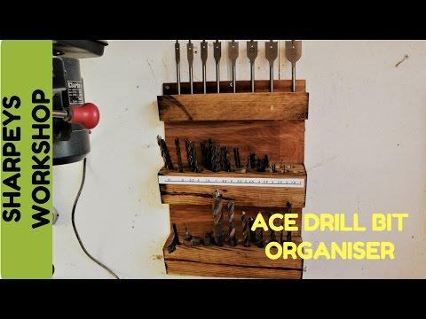 Drill bit storage wall mounted holder / organizer