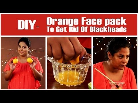 Orange Face Mask To Get Rid Of Blackheads | Easy DIY Blackheads Removal Face Pack | StyleCraze