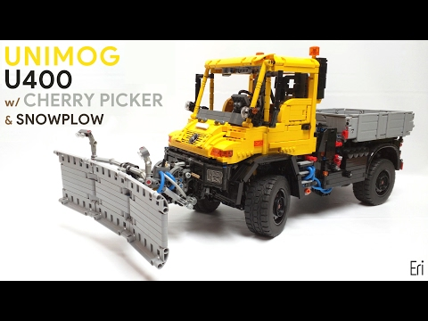 LEGO Unimog U400 w/ Cherry Picker & Snowplow