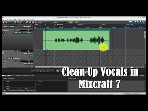 Clean Up Vocal Tracks in Mixcraft 7
