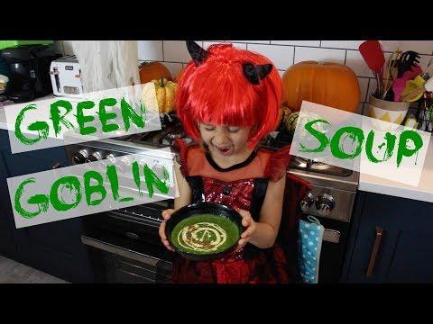 Green Goblin Spinach Soup | Healthy Halloween Recipe