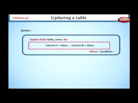 Learn Oracle   How to Update a Table using SQL