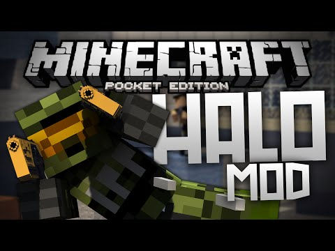 EPIC GUNS, ENERGY SWORDS, & MORE!!! - Halo Mod for MCPE! - Minecraft PE (Pocket Edition)