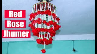 How to make Red Rose Jhumar || Latest Desigen Jhumer (झुमर) || Spark Creative Solutions 2019