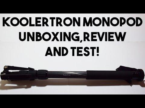 Best budget Carbon Fiber Monopod?!? Koolertron Carbon Fiber Monopod Unboxing, Review and Test!