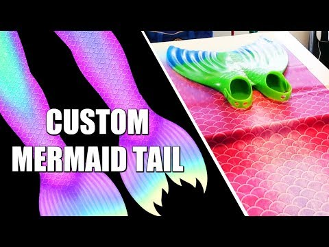 Sewing Echo's New Custom Fabric Mermaid Tail