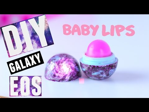 DIY GALAXY EOS LIP BALM with BABY LIPS - PINK PUNCH | Tutorial | Wendiness Lu